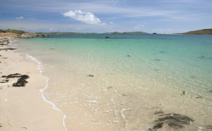 Bryher Island, home to beautiful beaches.