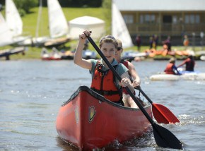 Tamar Lake in North Cornwall is fantastic for family days out on the water.