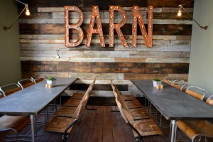 The Cornish Barn, restaurant at Artist Residence a boutique hotel in Cornwall