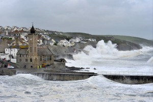 Porthleven one of the best storm hunting spots in Cornwall.