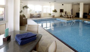 Swimming pool at the Royal Duchy Hotel in Cornwall
