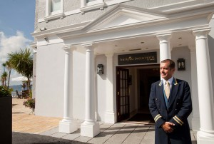 Entrance to the Royal Duchy Hotel in Cornwall