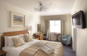 Bedroom at the Royal Duchy Hotel in Cornwall