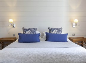 Rooms at The Seafood Restaurant in Padstow have sea views and are lovingly designed by Jill Stein.