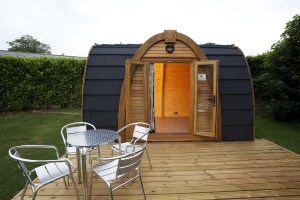 Glamping pods at Hendra Holiday Park in Cornwall