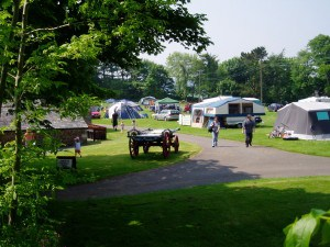 Trewan Hall, a camping and caravan park in Cornwall