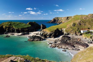 Kynance Cove, on the Lizard Peninsula - one of the most beautiful places in Cornwall.