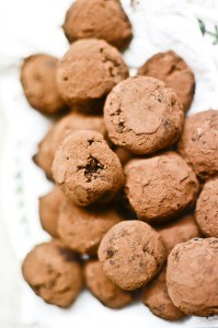 Delicious chocolate truffles made with Cornish clotted cream.