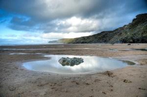 Watergate Bay beach in Cornwall