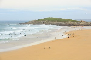 Fistral beach is one of the best beaches in Cornwall for water sports