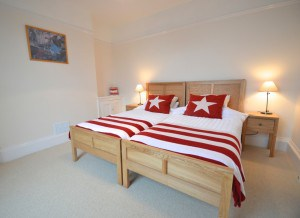 Bedroom at Polruan self catering cottages, Cornwall