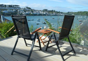 View from Polruan Cottages - self catering accommodation in Cornwall