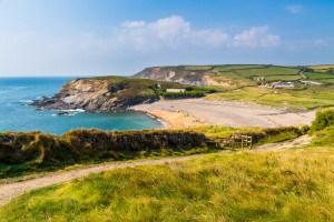 Gunwalloe beach - one of the most romantic beaches in Cornwall.