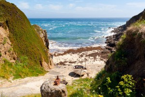 Porthgwarra, one of the beaches in Cornwall that starred in Poldark