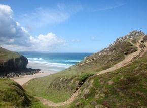 Chapel Porth beach in Cornwall