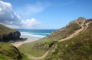Chapel Porth beach in Cornwall