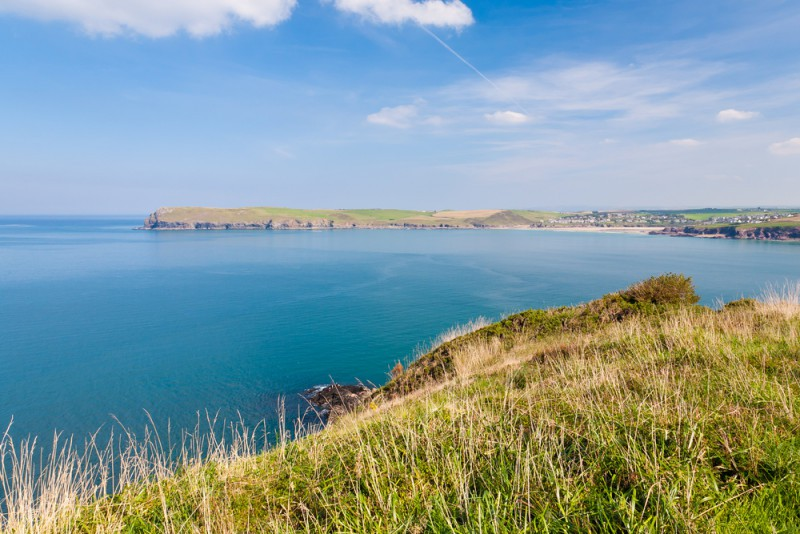 View from Stepper Point towards Pentire Head and Polzeath