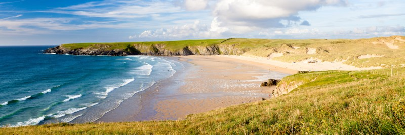 Holywell Bay on the North Cornwall coast,