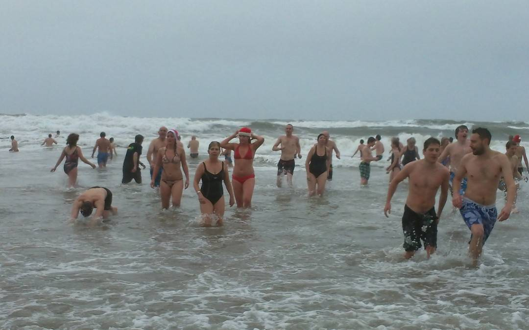 Christmas Day Swimming in Cornwall
