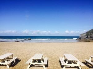View of Lusty Glaze Beach