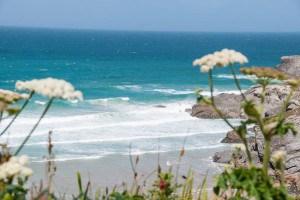 View over Lusty Glaze Beach