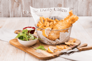 Fish and chips Cornwall Gold