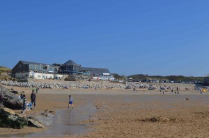 Rick Stein Fistral overlooking the beach