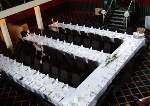 Wedding set up at Bodmin Jail