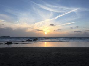 Lusty Glaze sunset