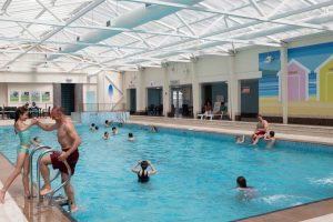 Indoor pool at Perran Sands